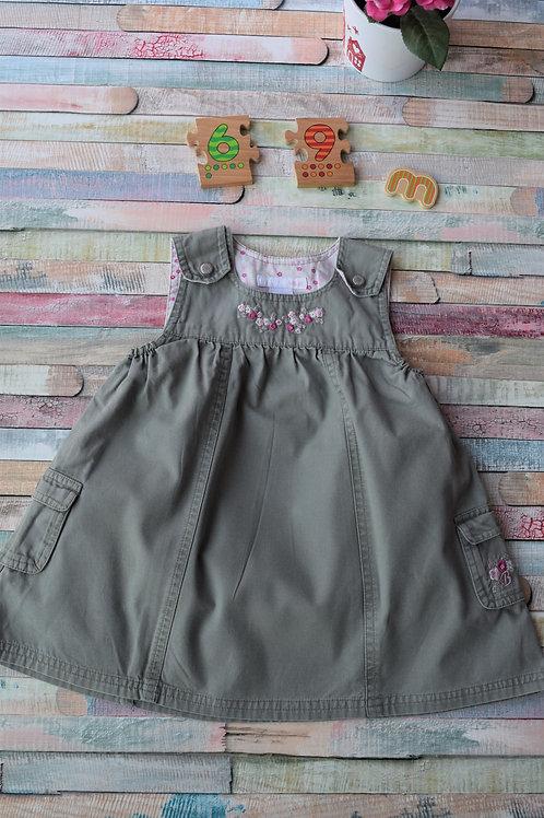 Summer Grey Baby Dress Size 6-9 Months Old