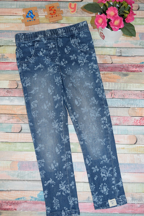 Jeans Floral Trousers 4-5 Years