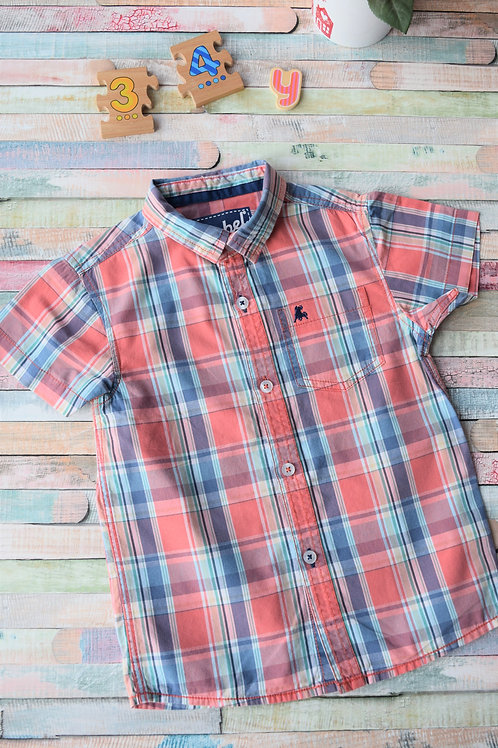 Pink and Blue Cotton Shirt 3-4 Years Old