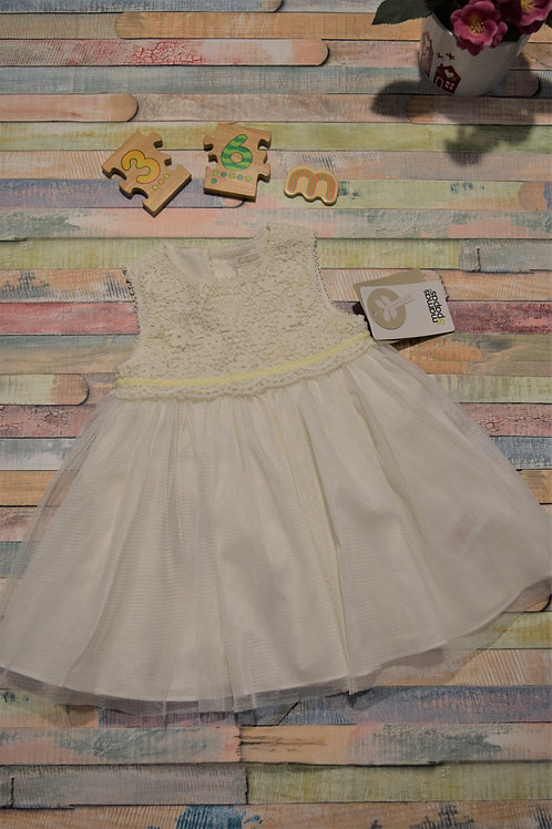 Mamas and Papas White Lace Dress 3-6 Months