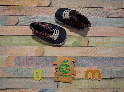 Jeans Baby Shoes 0-6 Months Old