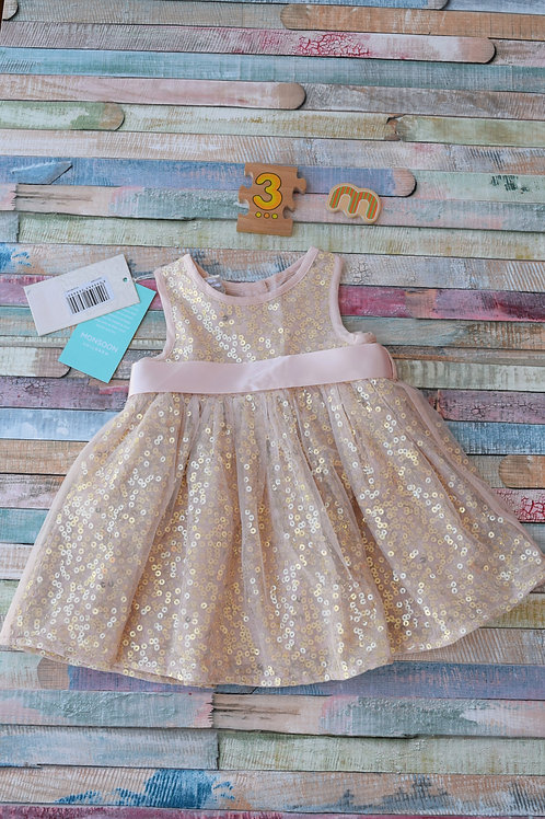 Monsoon Party Dress 0-3 Months Old