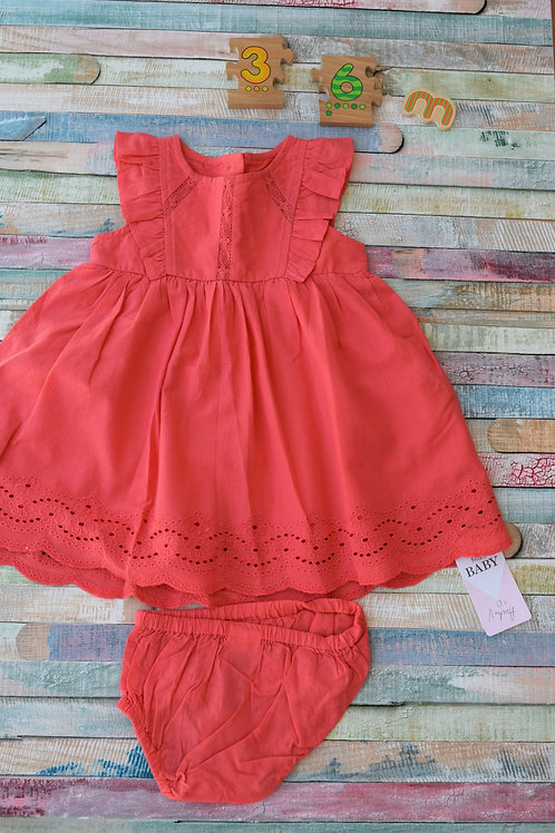 M&S Red Dress 3-6 Months Old