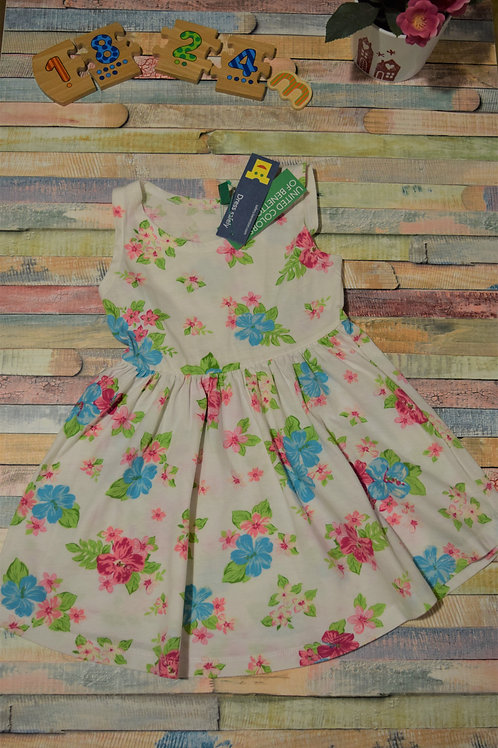 Benetton Cotton Floral Dress 12-18 Months