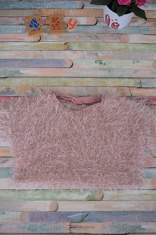 Fluffy Pink Blouse 4-5 Years Old
