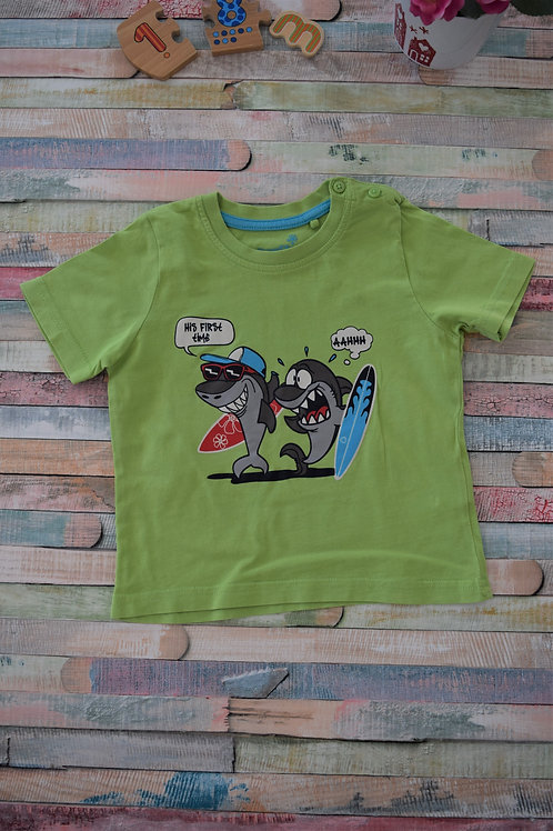 Sharks Green Tshirt 12-18 Months