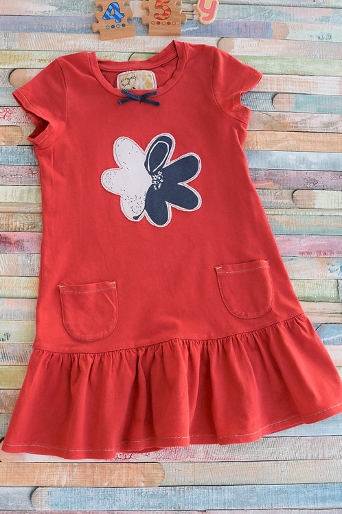 Red Cotton Dress 4-5 Years Old