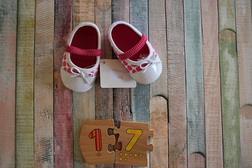Pink Baby Shoes Size 15, 17