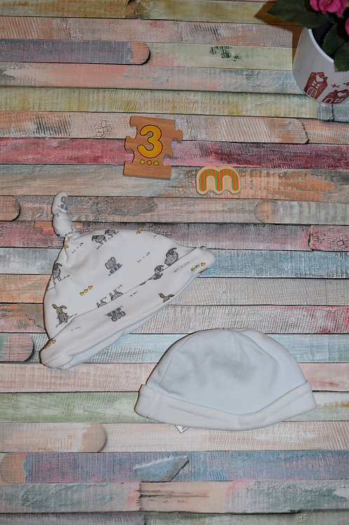 Baby Hats 2 pcs 0-3 Months