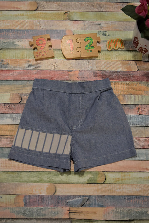 Blue With Stripes Shorts 9-12 Months