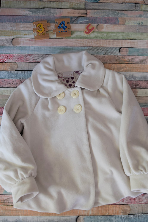 White Next Coat 3-4 Years Old