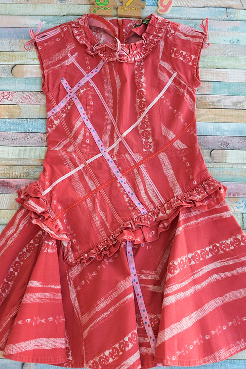 Oilily Red Dress 6-7 Years Old