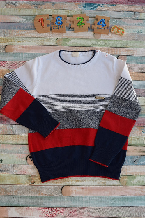 Sweater Blue and Red 18-24 Months Old
