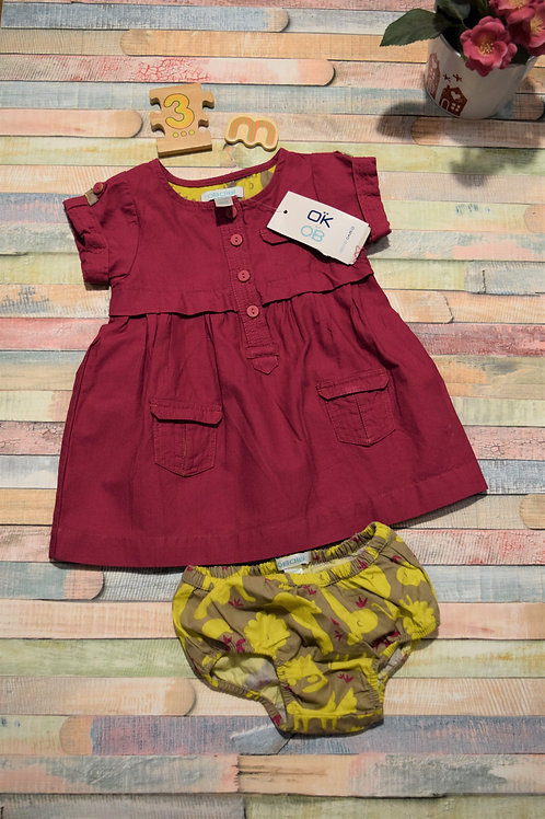 Obaibi Baby Girl Dress Set 0-3 Months