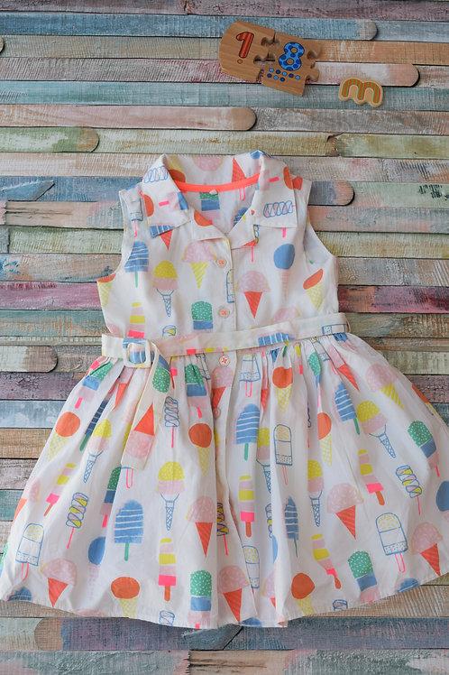 M&S Ice Cream Dress 12-18 Months Old
