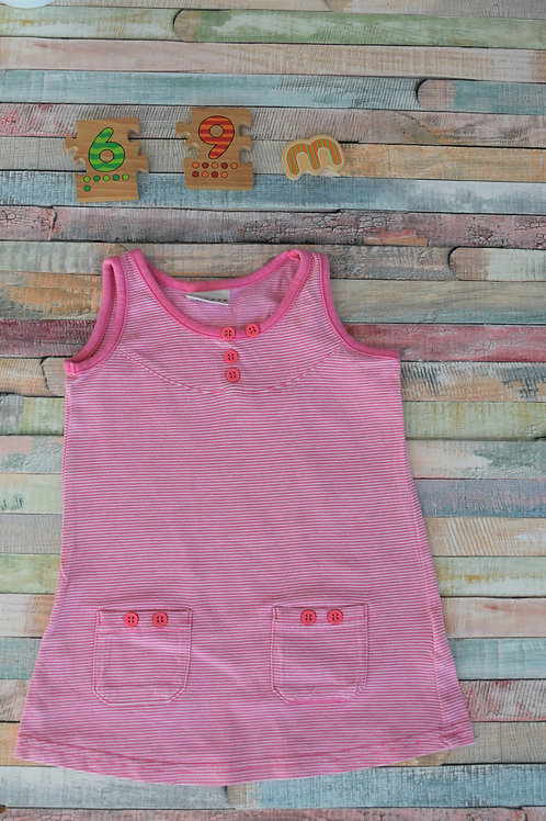 Next Cotton Dress Pink 6-9 Months Old