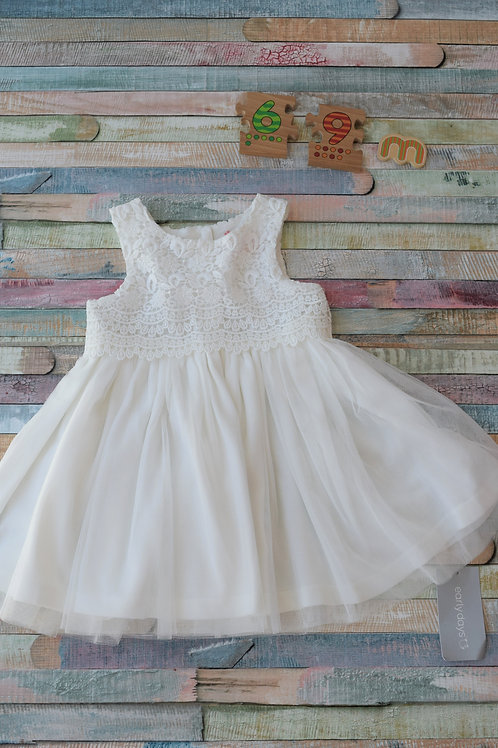 Early Days White Dress 6-9 Months Old