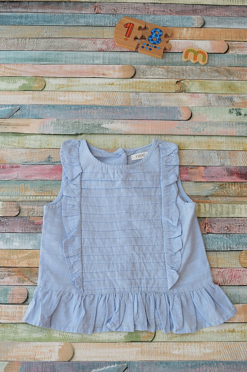 Cotton Blue Top 12-18 Months Old