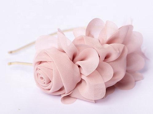 Fascinator Pink Roses HeadBand