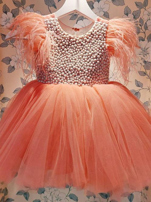 Pearls Peach Dress