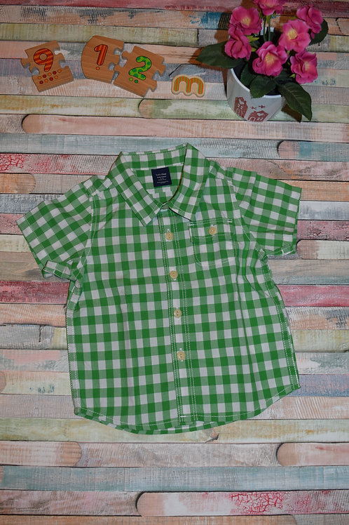 Baby Gap Green Plaid Shirt