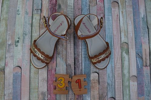 Brown/Gold Sandals Size 31