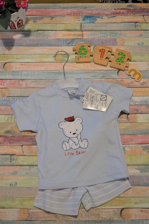 Little Sailor Set Bio Cotton 6-12 Months