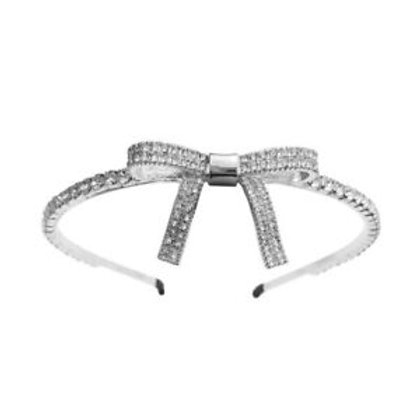 Rhinestone Headband with Ribbon