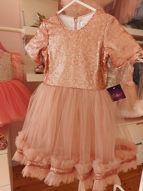 Sparkly Dusty Pink Alice Dress