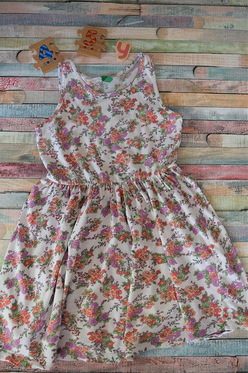 Flower Beneton Dress 4-5 Years Old