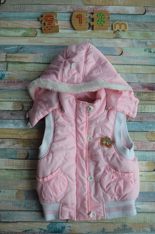 Pink Jacket with Hood 9-12 Months Old