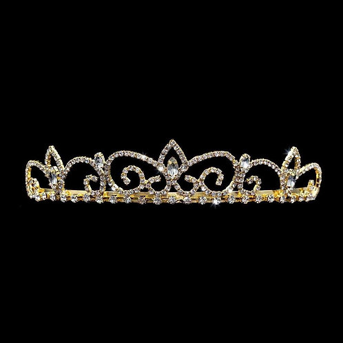 Royal Regent Tiara Gold Plated with Combs