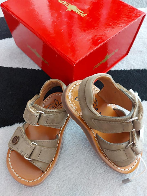 Pom d'Api Brown Sandals Leather Size 20
