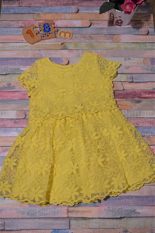 Yellow Flowers Next Dress 12-18 Months Old