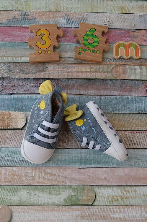 Yellow Rbbon Shoes 3-6 Months Old