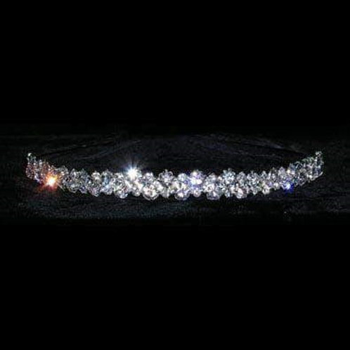 Alternating Stones Headband Silver