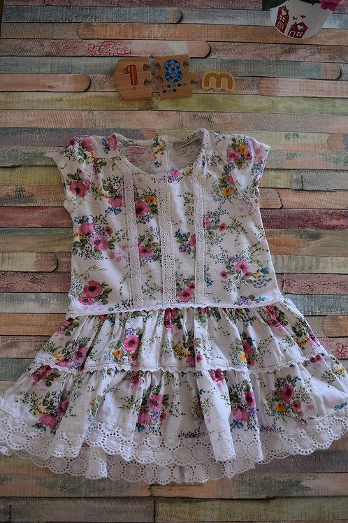 Next Flower Dress 12-18 Months Old