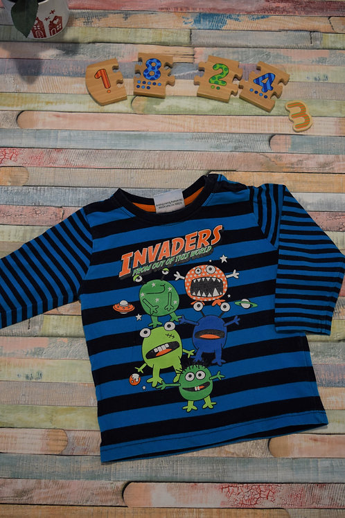 Invaders Blue Top 18-24 Months