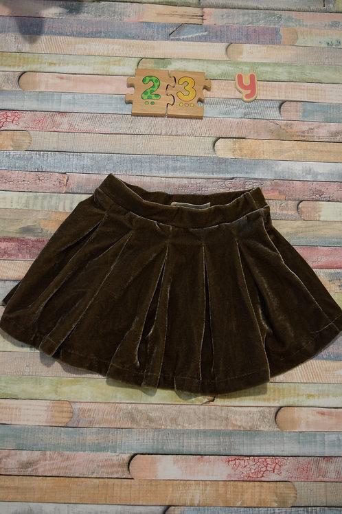 Brown Velvet Skirt 2-3 Years Old