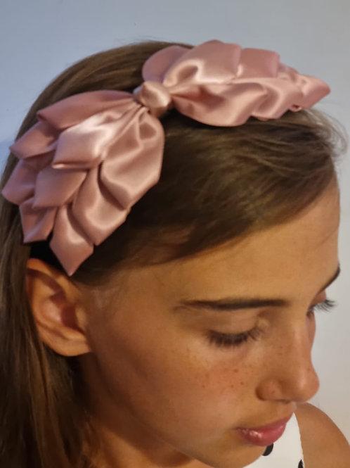 Elegant Pink Ribbon Headband