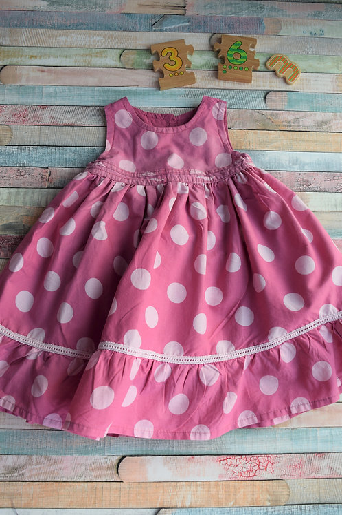 Purple Dots Dress 3-6 Months Old