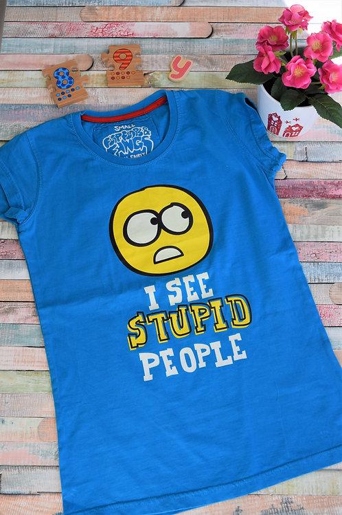 Funny Tshirt I See Stupid People