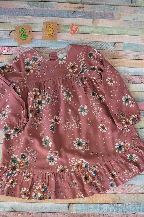 Long Sleeve Flower Dress 2-3 Years Old