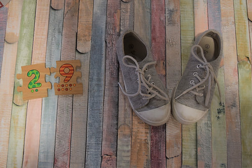 Grey Sparkly Shoes Size 29
