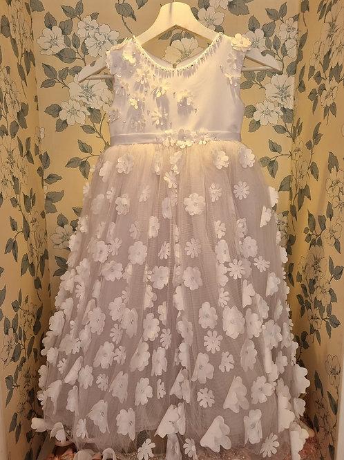 White Flowers Laila Dress