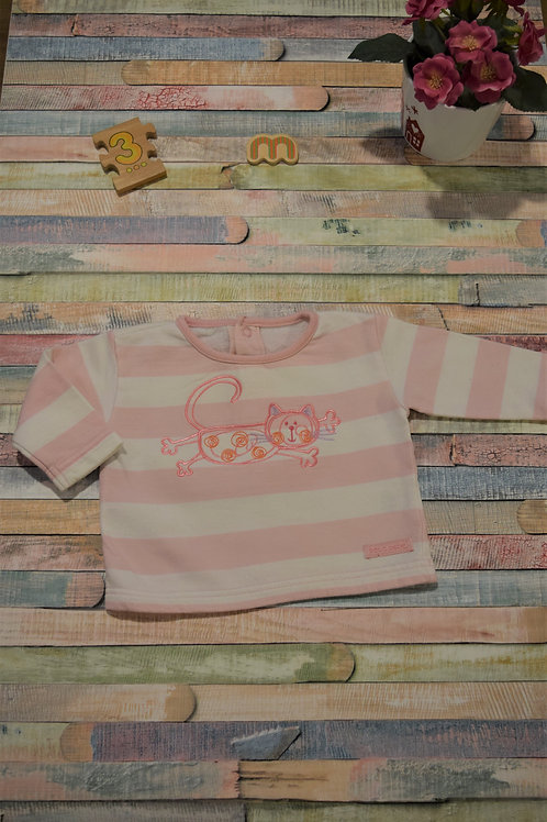 Cat Long Sleeve Top 0-3 Months Old