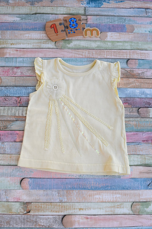 Yellow Sun Tshirt 12-18 Months Old