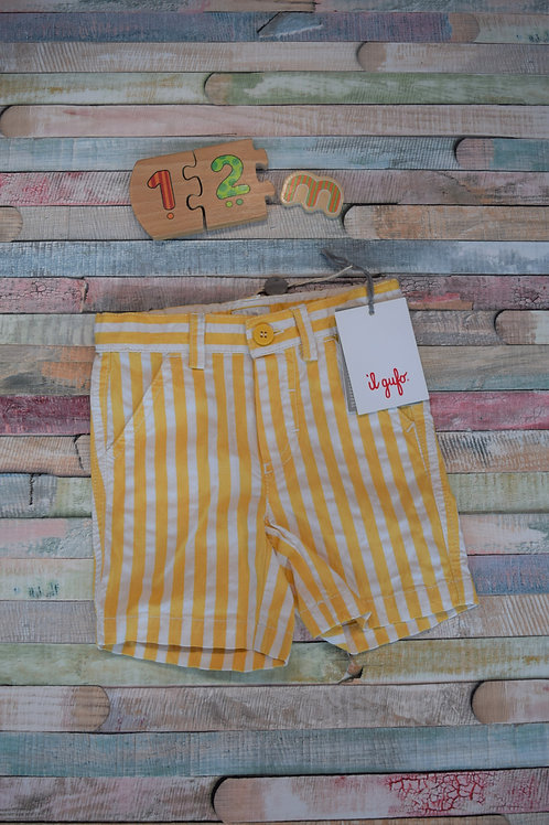 Il Gufo Yellow Shorts 9-12 Months Old