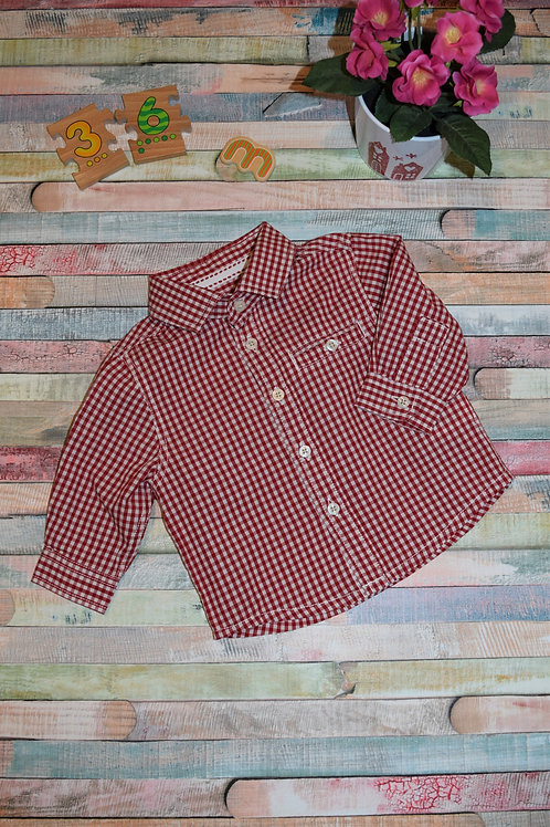Cute Long Sleve Shirt Red
