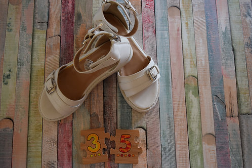 White Sandals Size 35